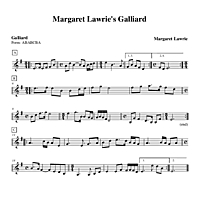 Margaret Lawrie's Galliard