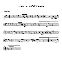 Henry Savage's Favourite